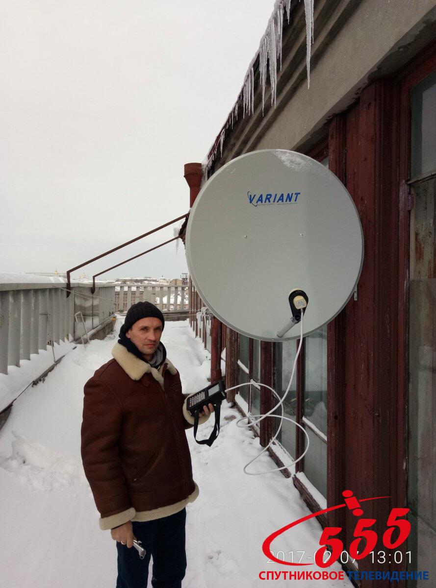 Установка спутникового телевидения Крещатик