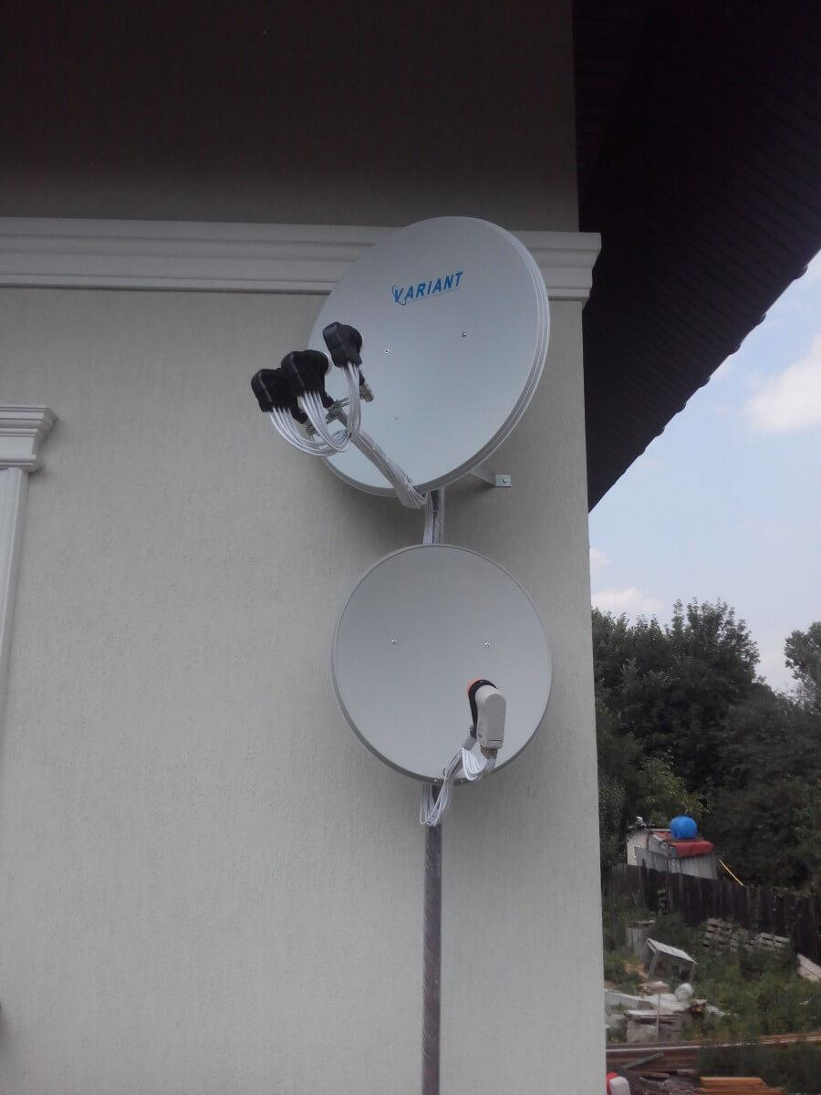 Фото антен на 8 телевізорів